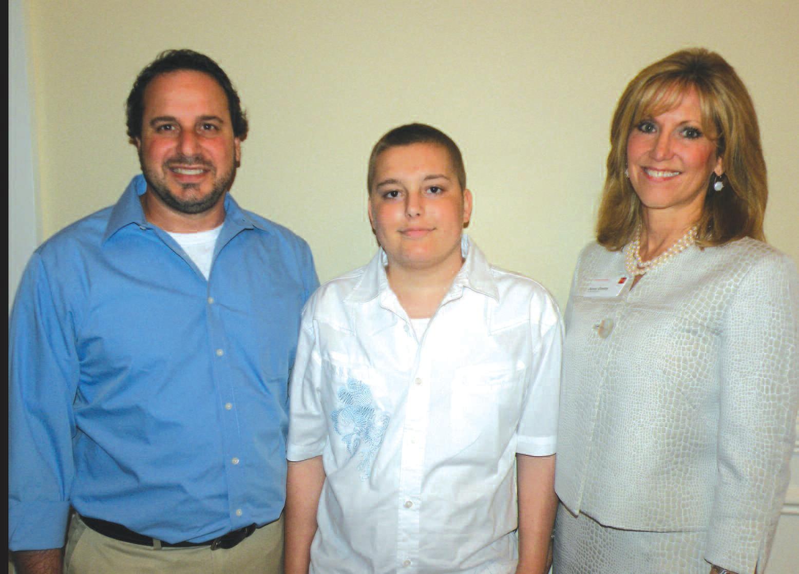 Pictured left to right: Mr. Gagliardo, Greyson Gagliardo, and Jenny Gentry, 2011 Corporate Walk Chairman