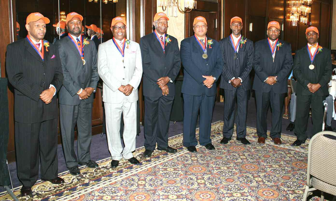 "Pictured left to right: Rev. Clarence ""Teddy"" Williams, Willie J. Walker, Esquire, State Rep. Edward ""Mickey"" Stephens, Mr. W. Richard Shinhoster, Lt. Col. David A. Miller, Sr., Mr. James ""Slim"" Melvin, Mr. Larry O. Jackson, and Mr. Tony Foy. (Not pictured) Mr. Otis J. Brock, III, Dr. Vernon T. Bryant, Mr. Roy Jackson, and Lt. General Walter E. Gaskin"