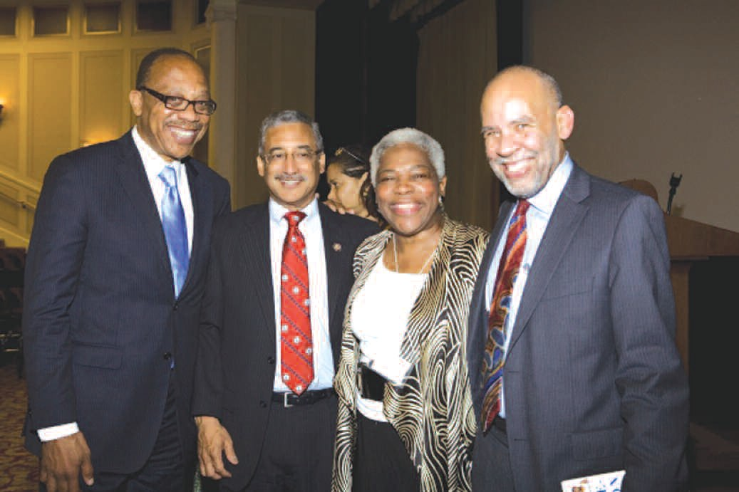 Left to right: Eugene Robinson, Congressman Bobby Scott, Elaine Jones, and John Payton