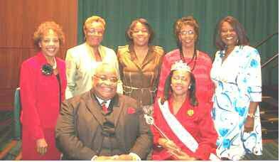 Standing – Sis's Evelyn Moffit, Queen Reeves, Tina Young, Rev. Margaret Giddings and Beverly Hall Seated – Rev. Dr. John Foster and Sis. Mary Ann Foster-