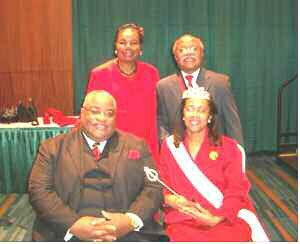 Standing - Sis. Shirley Taylor and Presiding Elder James E. Taylor Seated – Rev. Dr. John Foster and Sis. Mary Ann Foster
