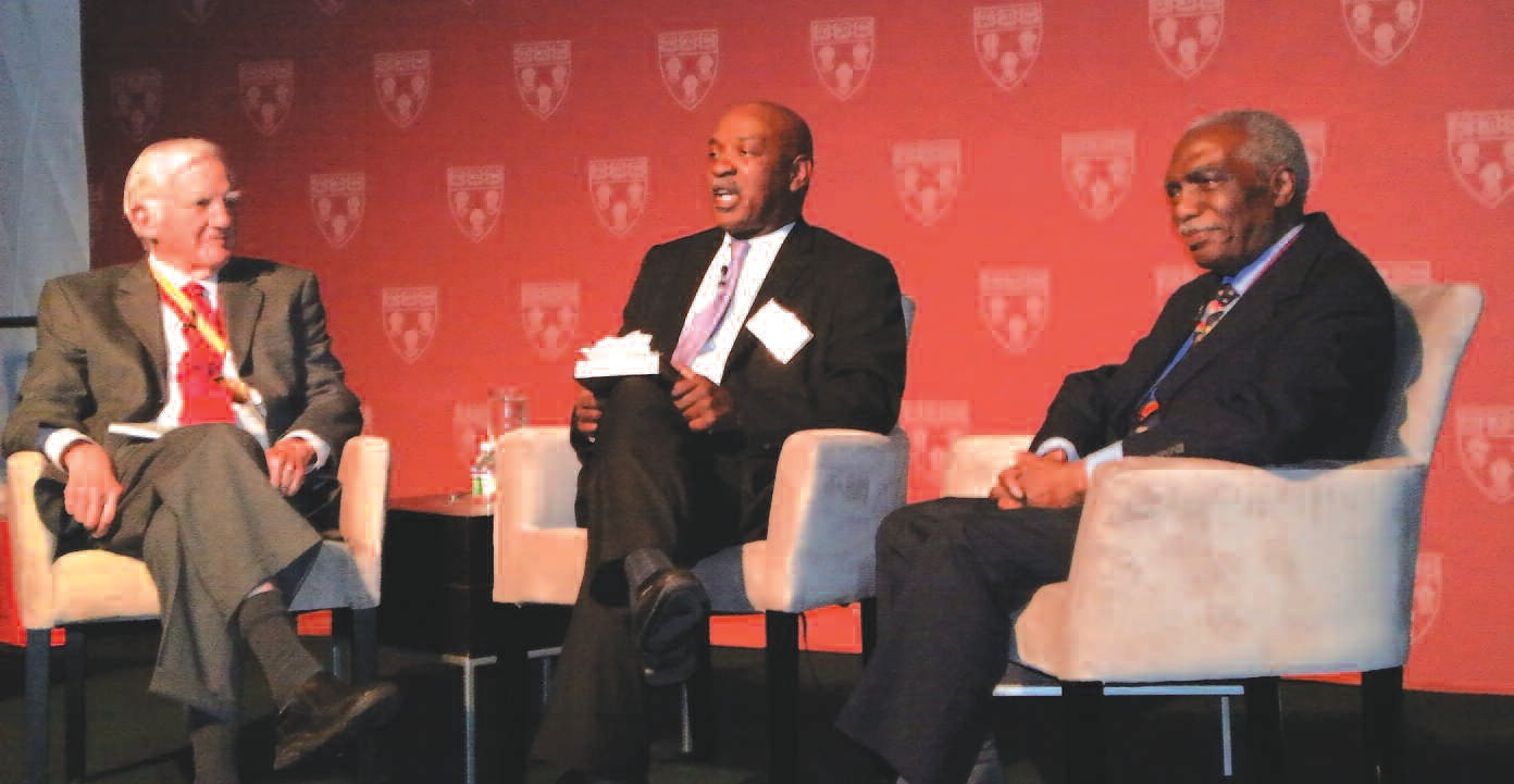 Former Harvard University President Derek Bok, Harvard Law School Professor Charles Ogletree and former Assistant Dean Walter Leonard discuss opening Harvard Law School to Black students in the 1960s and '70s.