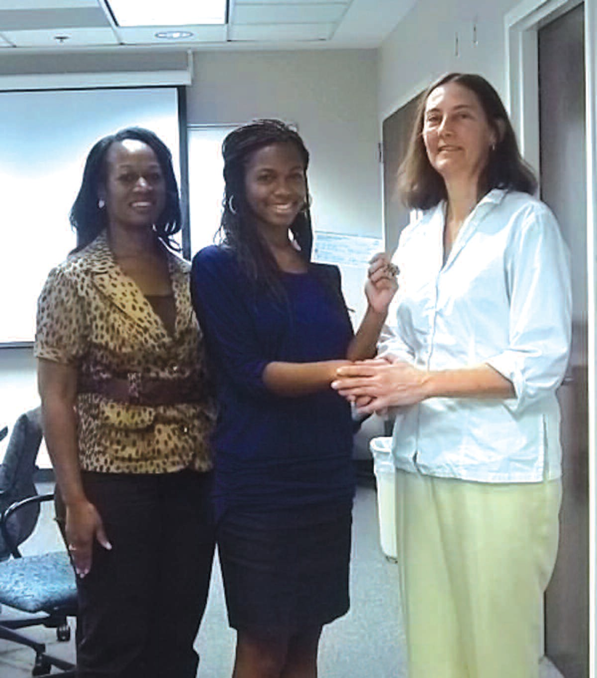 L to r: Michelle Britton, Chantel Britton and Dr. Carol Mulligan