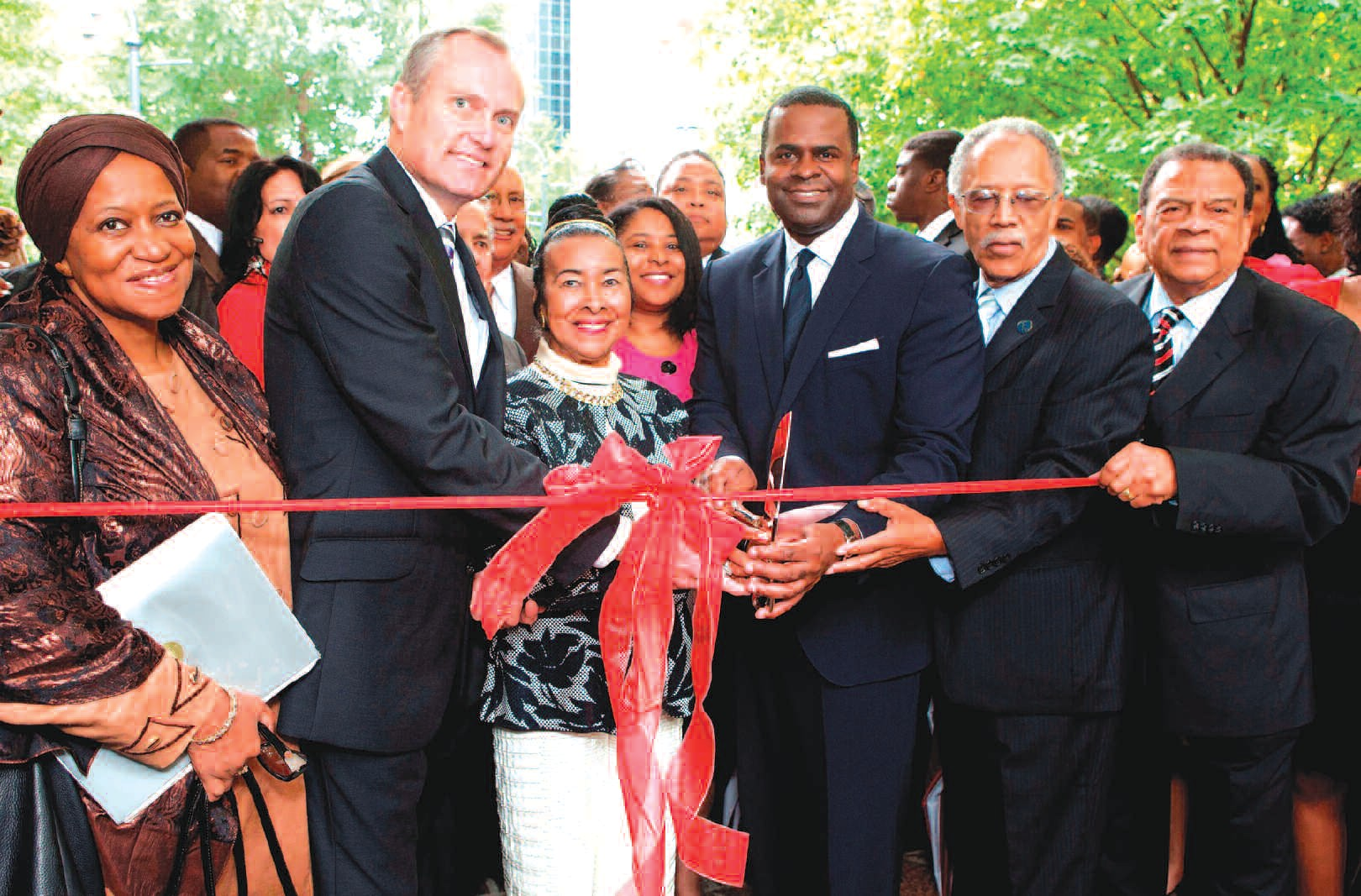 Left to right: Dr. Erieka Bennett, Ambassador, African Union Diaspora, Accra. Ghana; Georgia Lt. Governor Casey Cagle, Ms. Xernona Clayton, Honoree; Atlanta Mayor Kasim Reed; Atlanta City Council member C.T. Martin; and Ambassador Andrew Young