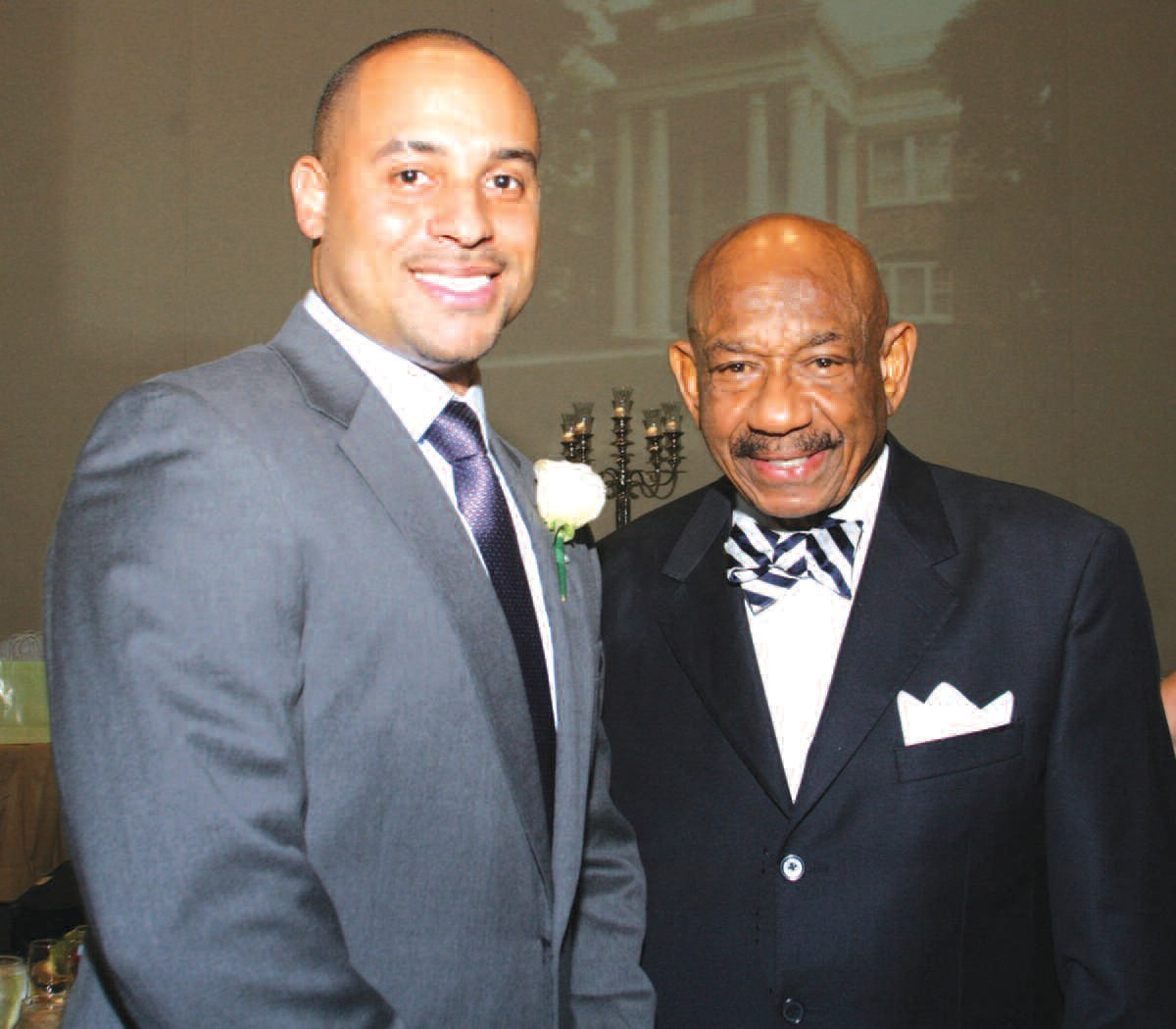 Adam Herndon, Great, Great nephew of Alonzo Herndon (left), and Atlanta Businessman Herman Russell, one of the honorary co-chairs of the Herndon Home Centennial Gala