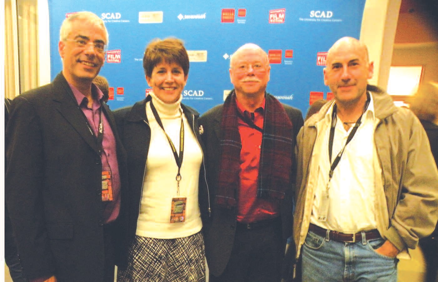 Left to right: Dean Peter Weishar, SCAD Film and Television; Marian Hofstein, film Producer and Stunt Performer; Michael Hofstein, Professor (SCAD) and multi talented, Director and Director of Photography; and James Eckhouse, Actor and Director.