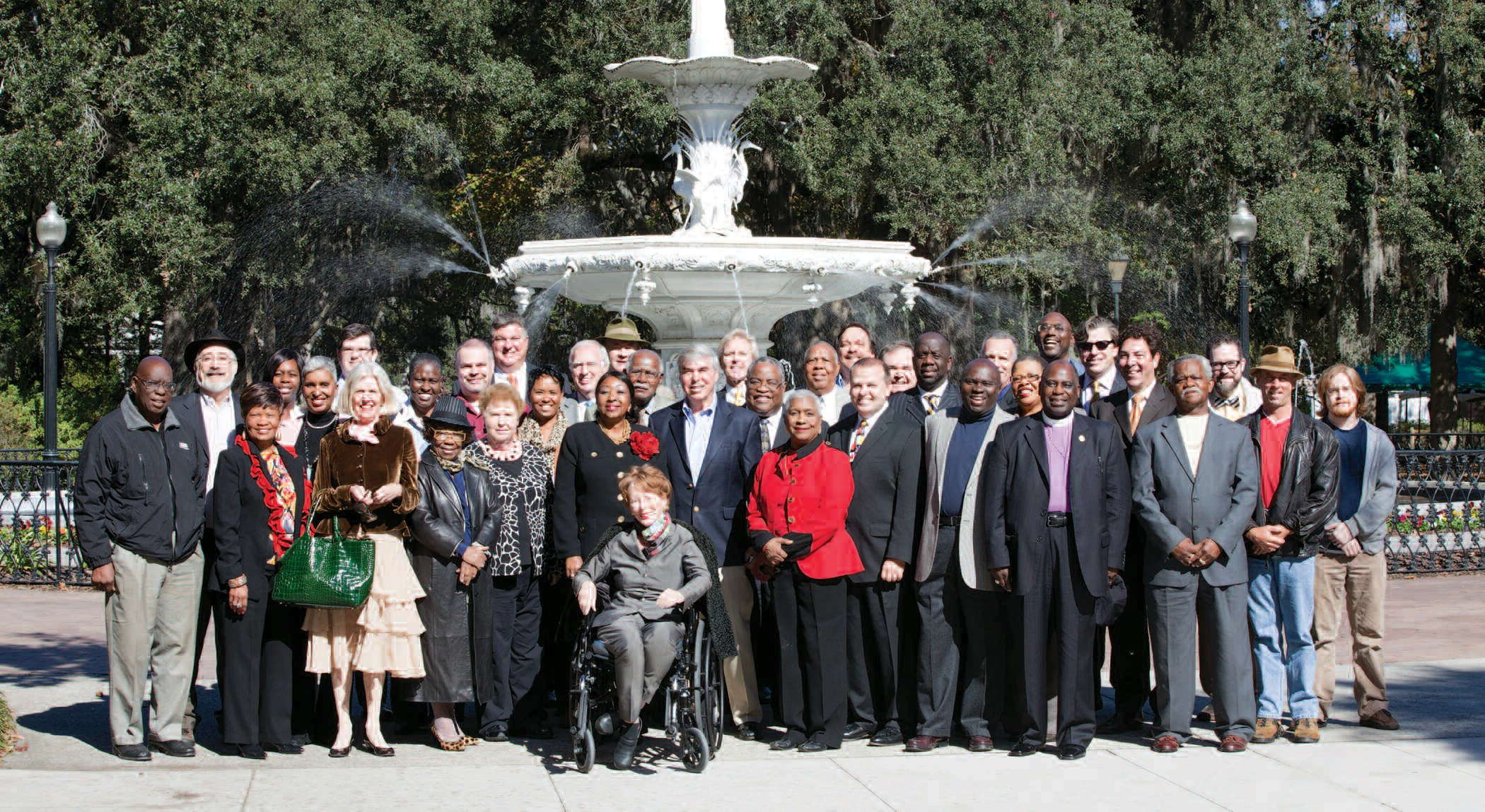 A few of Edna Jackson's key supporters joined her for a group photo last week in Forsyth Park.