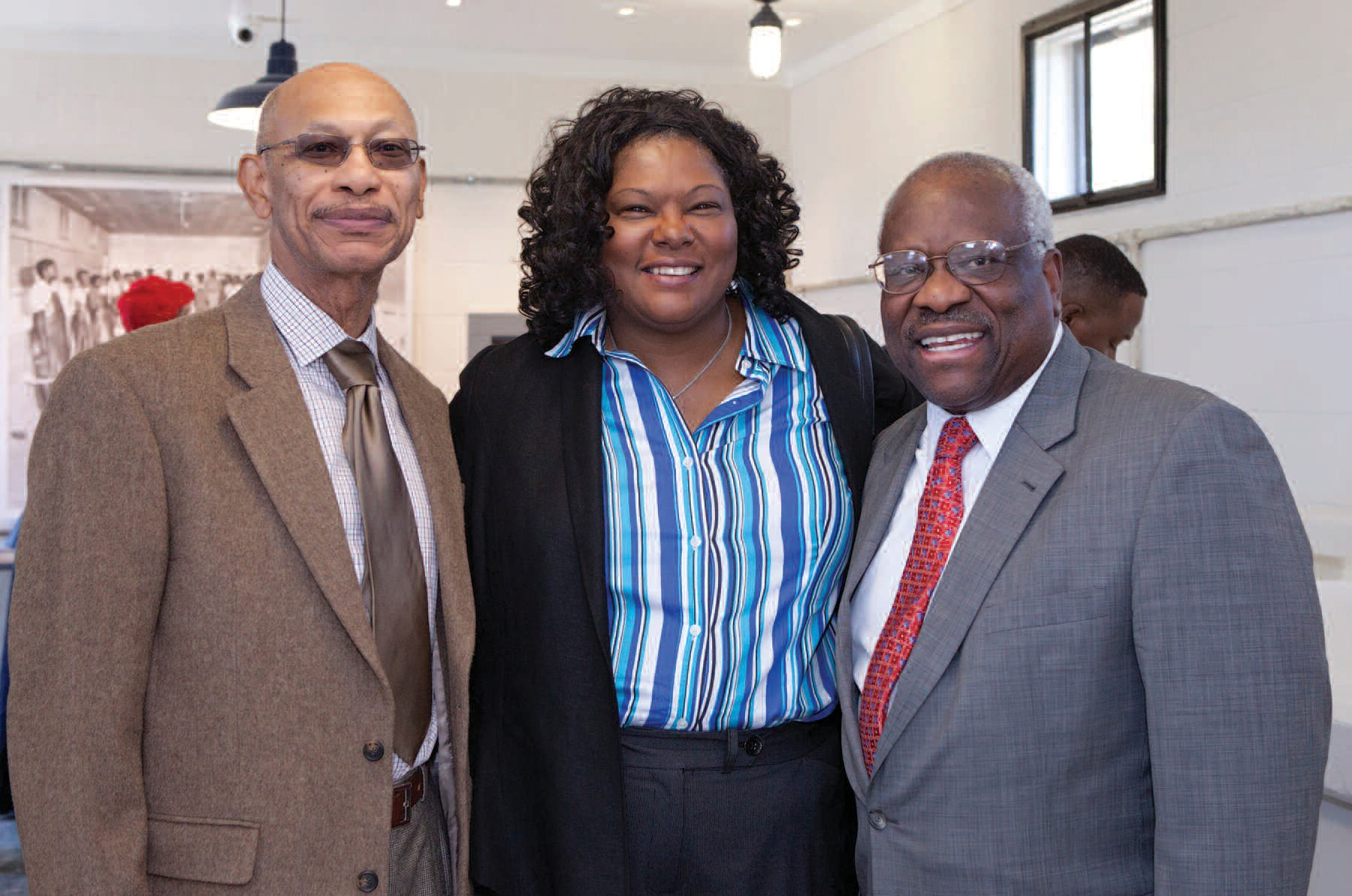Savannah Mayor Otis Johnson, City Manager Rochelle Small-Toney and U.S. Supreme Court Justice Clarence Thomas (l-r) attended the soft opening of the Pin Point Heritage Museum. Photo credit: Adam Kuehl.