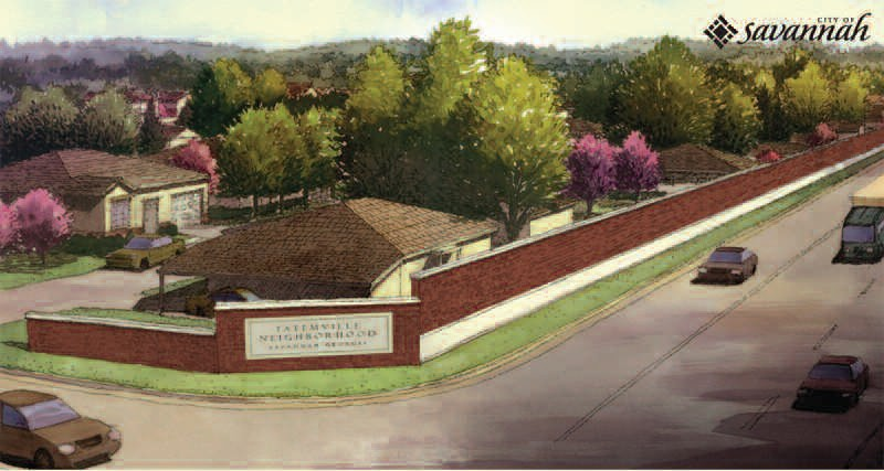 Rendering of sound wall