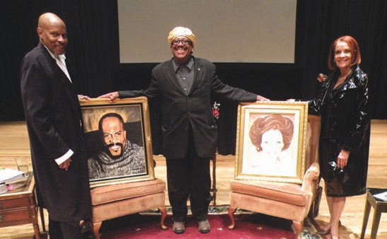 Local Artist Artie Milton presents portraits of Avery Brooks and Jewell Robinson