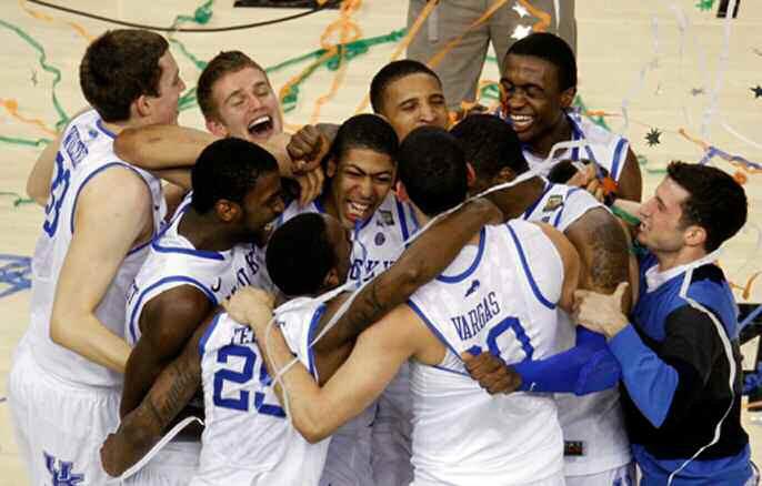 Kentucky Wildcats beat Kansas Jayhawks 67-59