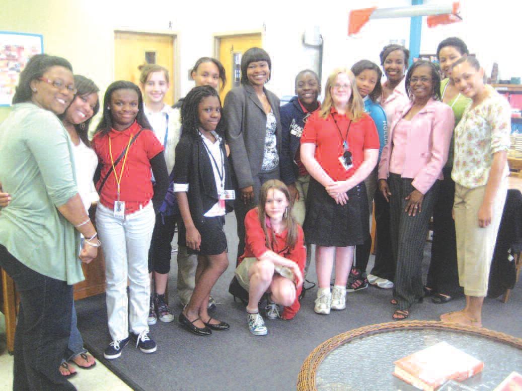 EYL members with Atty. Cox, Mrs. Miller, Sigma Tau members and Mrs. Audrey Singleton, Advisor