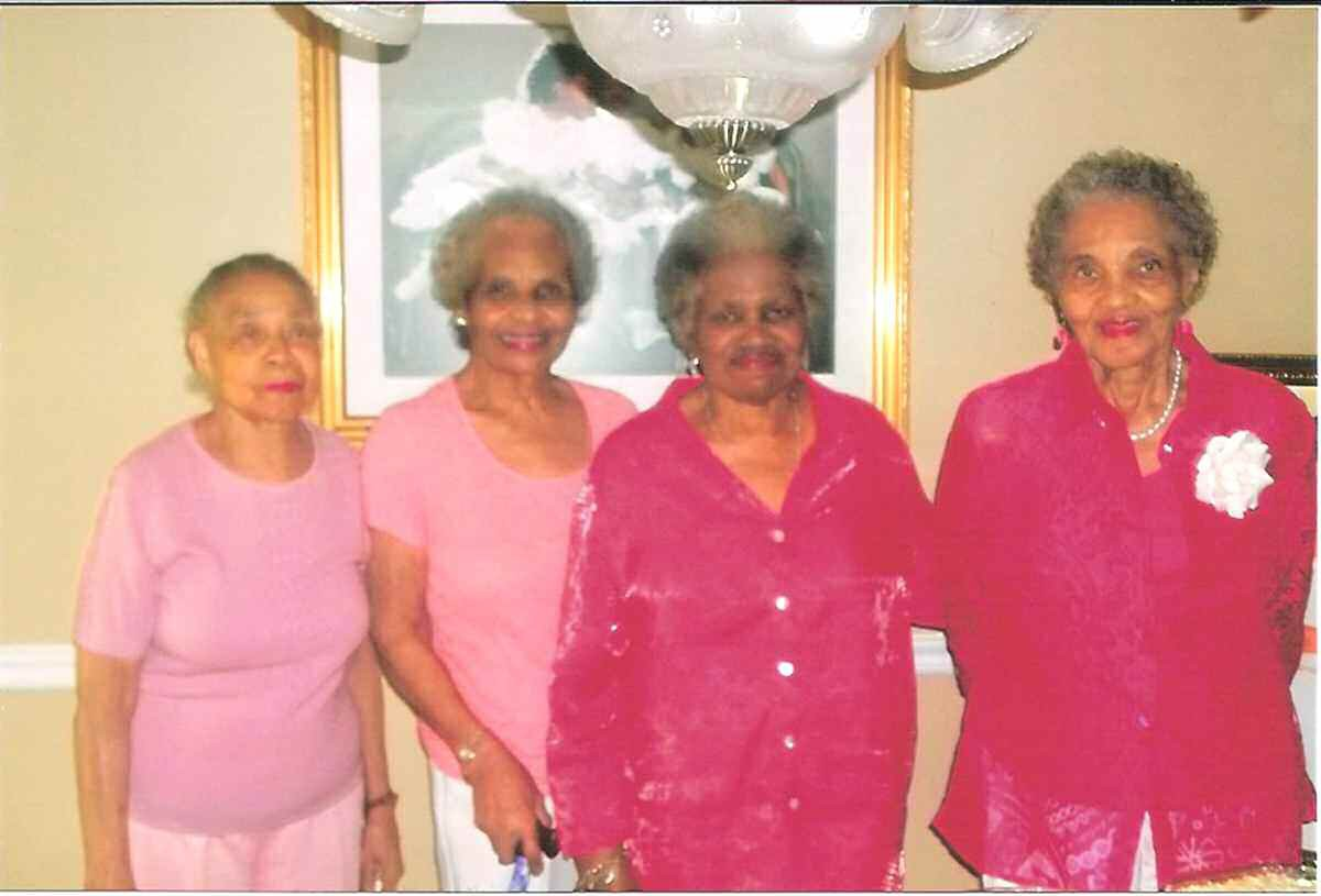 Pictured left to right: Mrs. Marion Dobson, Mrs. Lee Arthur Malone, Mrs. Lula Kennedy and Mrs. Henrietta Wulhite-Mincey