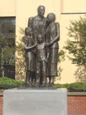 First African-American family monument