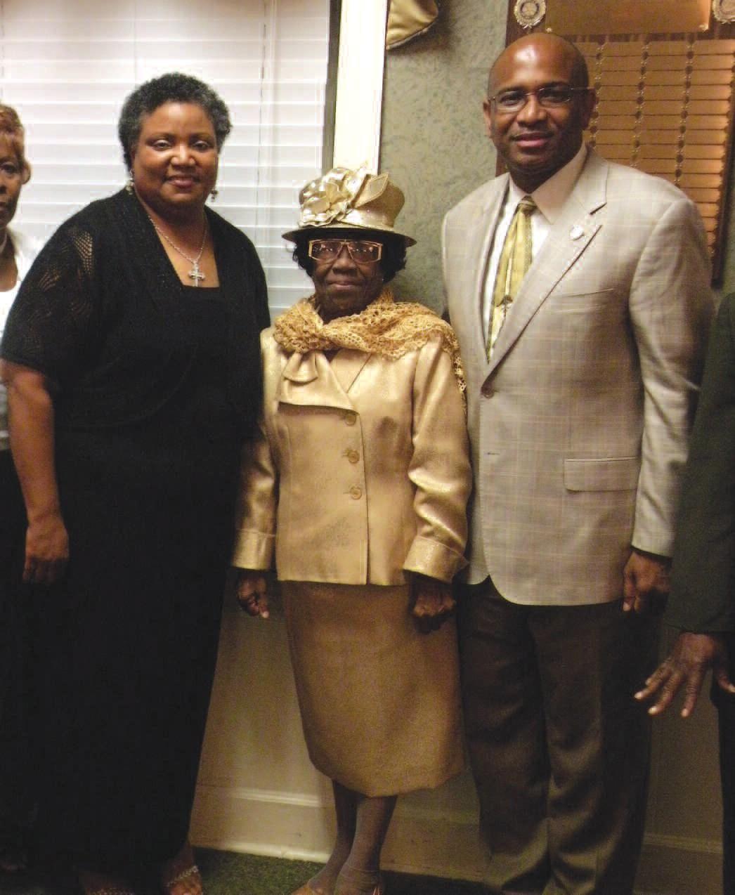 Dr. Diane Evans, Prophetess Hazel Scott and State Senator Lester Jackson