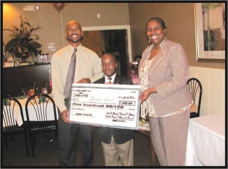 L-R Mr. Terron T. Johnson (D.E.C.A. Advisor), Corliss J. Best, Dr. Linda R. Green (D.E.C.A. Advisor)