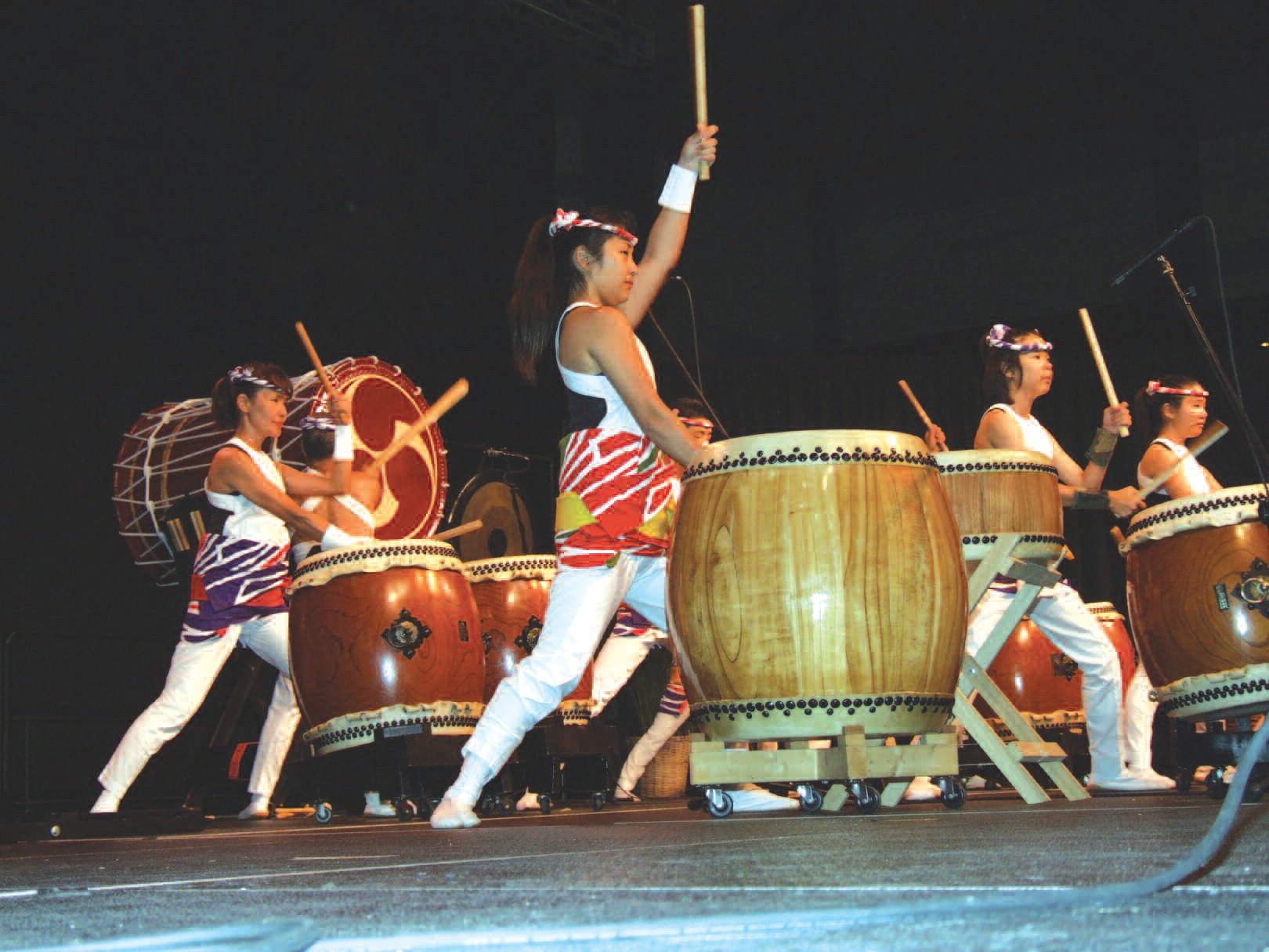 The Matsuriza Taiko Drummers of Japan pictured at past Savannah Asian Festival