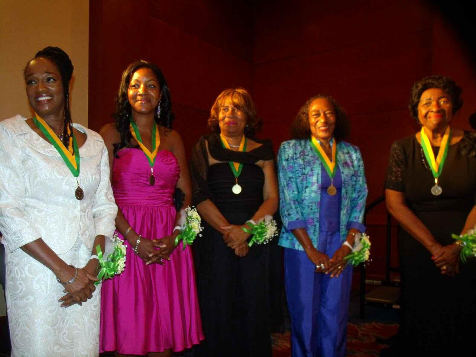 L-R Dr. Clarissa Myrick-Harris, Dr. Kenya Lenoir Messer, Dr. Lucille Hilliard, Dr. Brenda Vincent Cross, Dr. Althea Masterson and Dr. Charlotte Lee (not pictured)