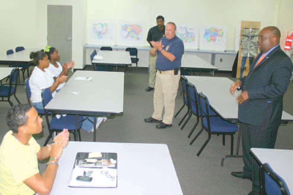 SCMPD training directory Gary Taylor, Alderman Van Johnson address class at closing ceremony