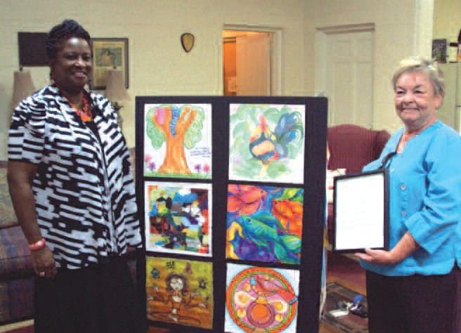 Gena P. Taylor, Greenbriar executive director and Lita Clary, active member of the association