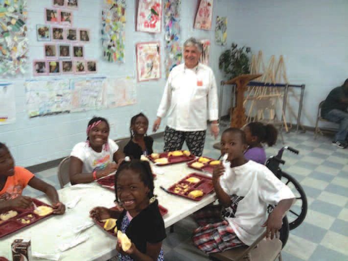Chef Paul Buck of Union Mission's Starfish Café served over 700 meals to the children at West Broad Street YMCA.