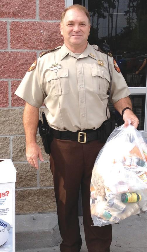 Local Officers partcipate in Prescription Drug Take Back Program
