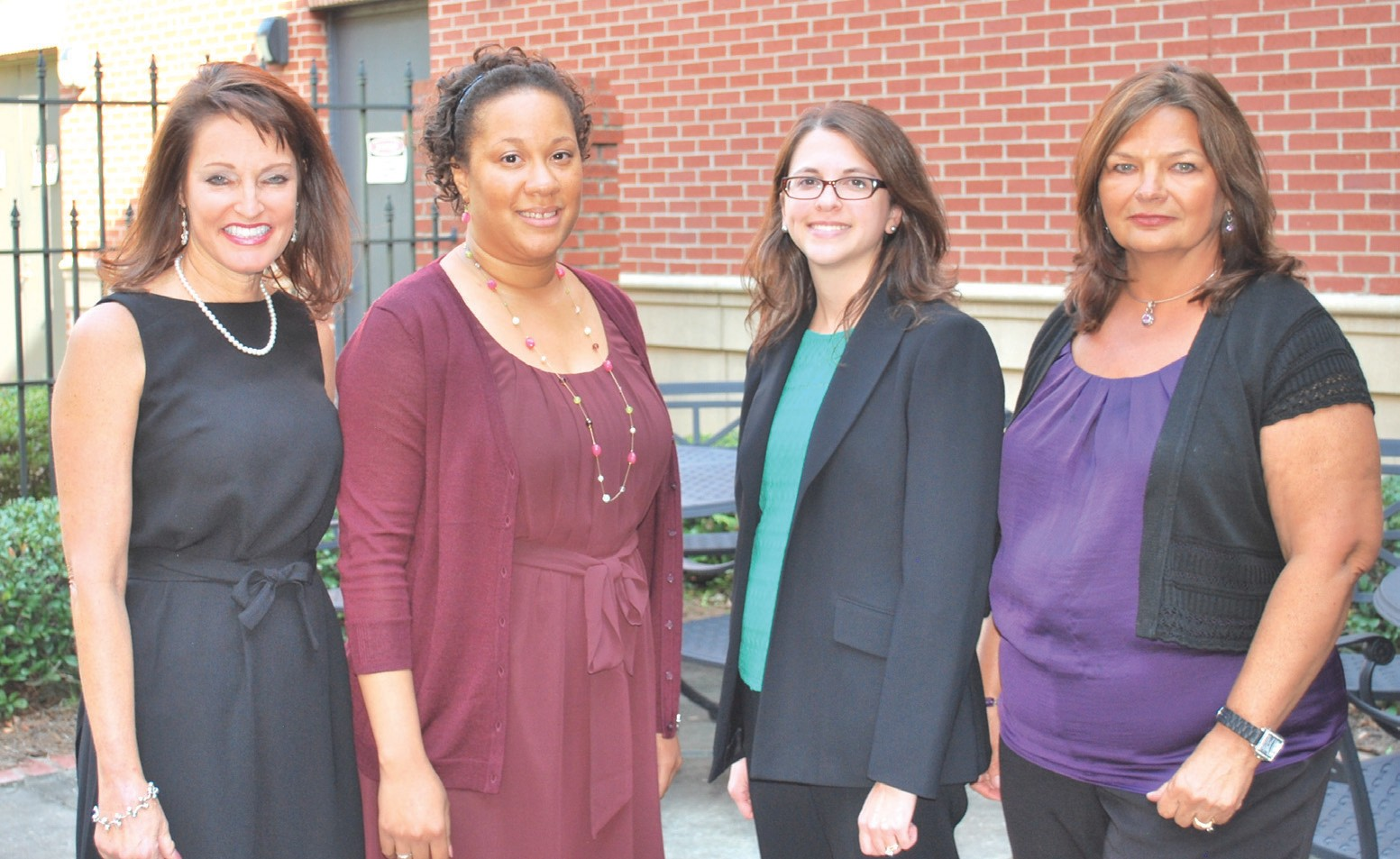 L-R Marti B. Cribbs of Georgetown K-8, Monica N. Roland of Oglethorpe Charter, Natalie Chase of Windsor Forest High School, and Linda Byerly of Jacob G. Smith.