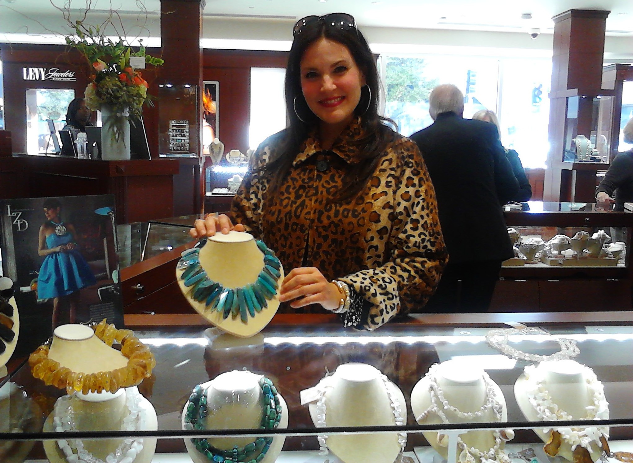 Lisa Zipperer Designs ( local designer)are now available at Levy Jewelers