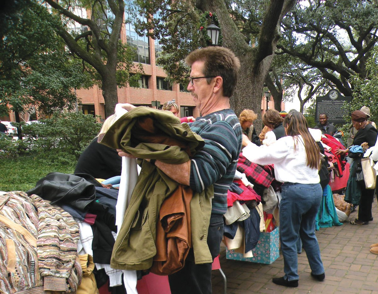 Individuals received jackets and blankets from HBA.