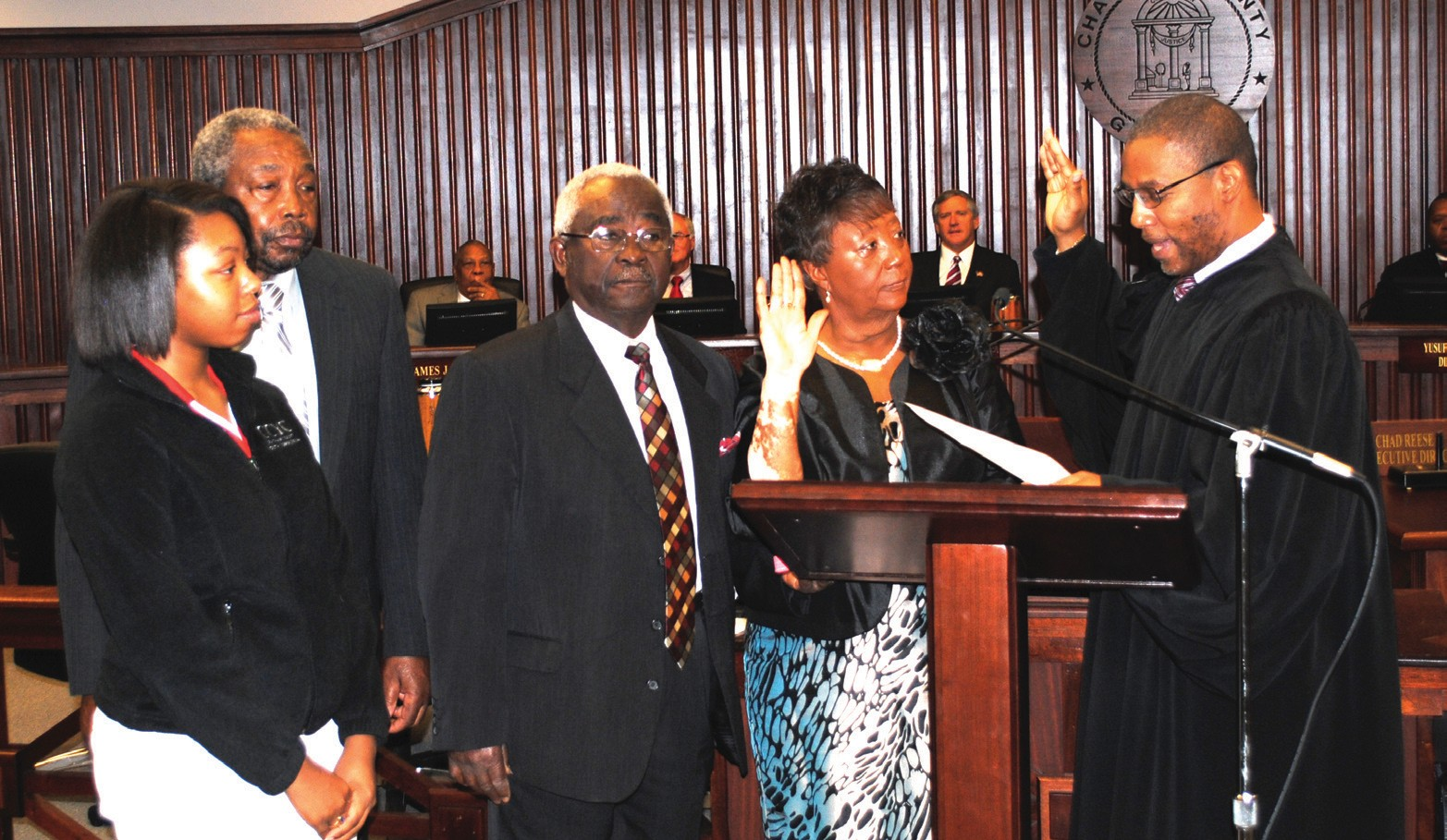 Commissioner Priscilla D. Thomas, District 8, sworn in by The Honorable Judge John E. Morse, Jr.