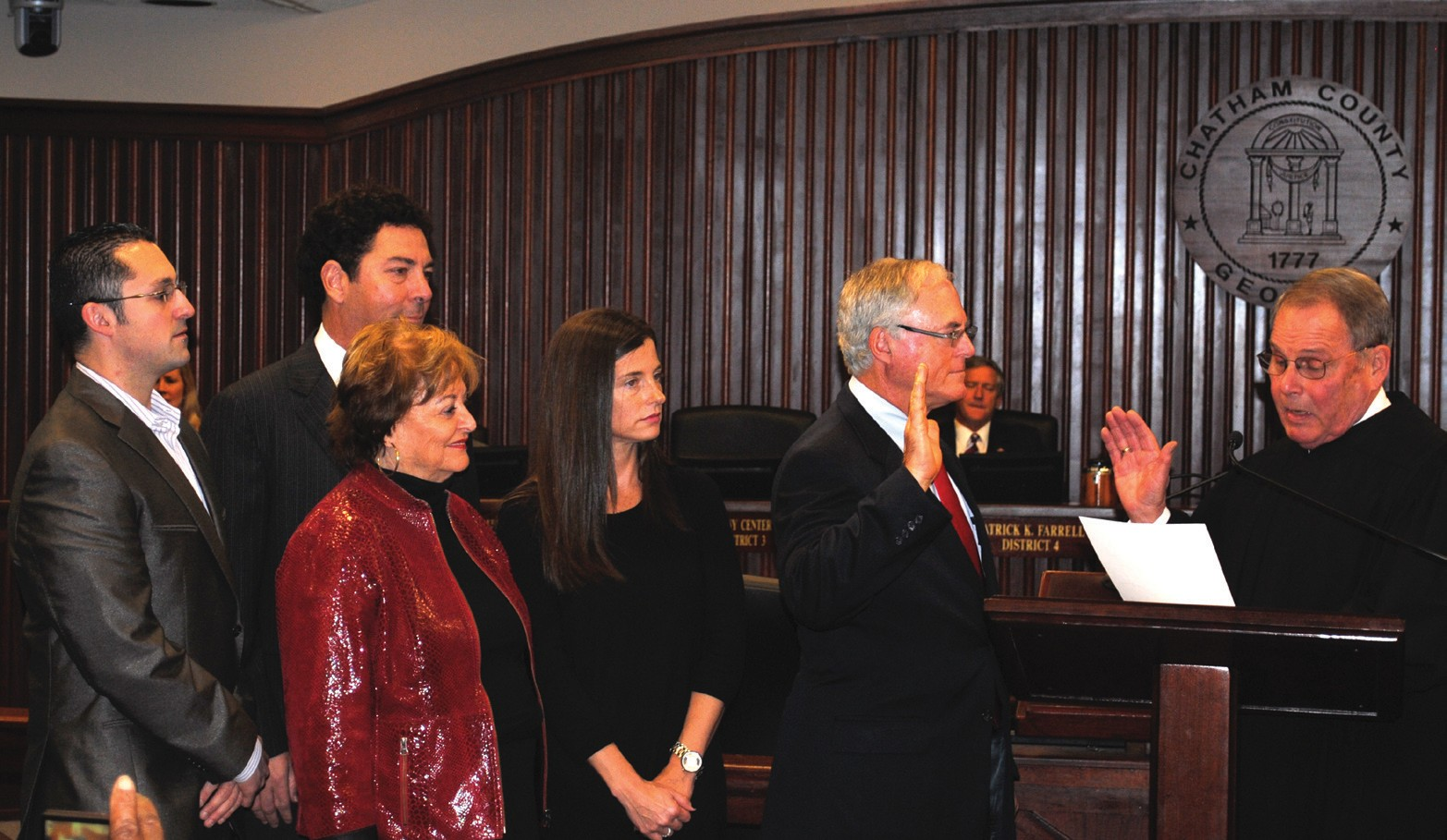 Commissioner Tony Center, District 3, sworn in by The Honorable Judge Timothy R. Walmsley