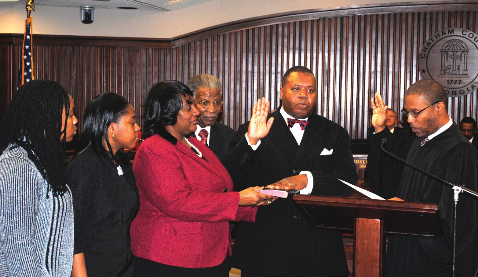 Commissioner Yusuf Shabazz, District 5, sworn in by The Honorable John E. Morse, Jr.