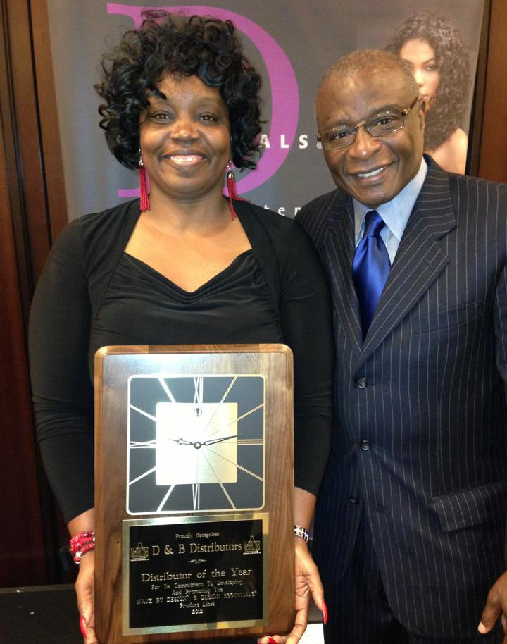 Donna is pictured with CEO of McBride Research Labs, Cornell McBride.