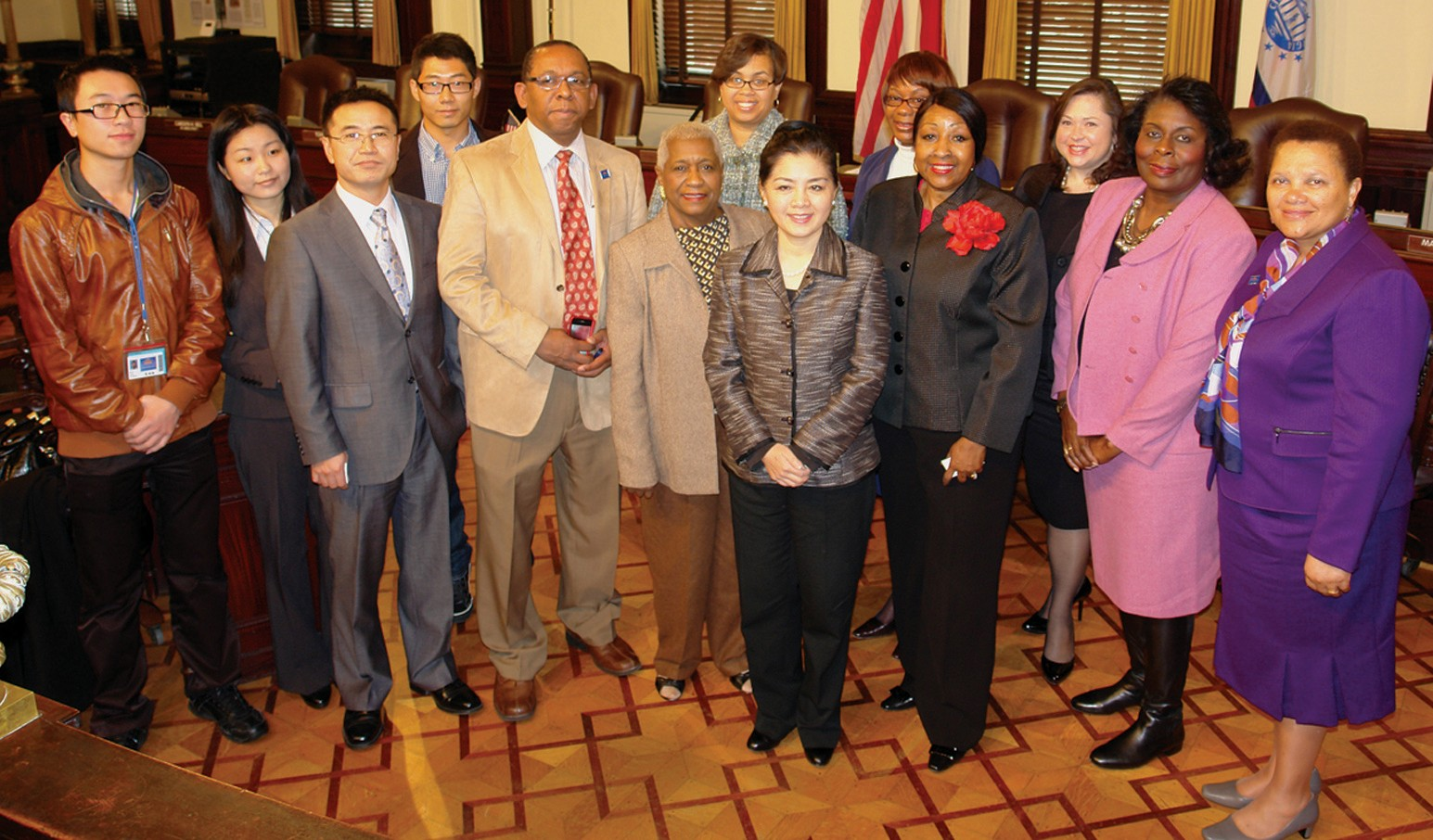 Chinese Consul General Xu Erwen and members of her delegation meet with officials and leaders from the City of Savannah in City Hall on Feb. 4