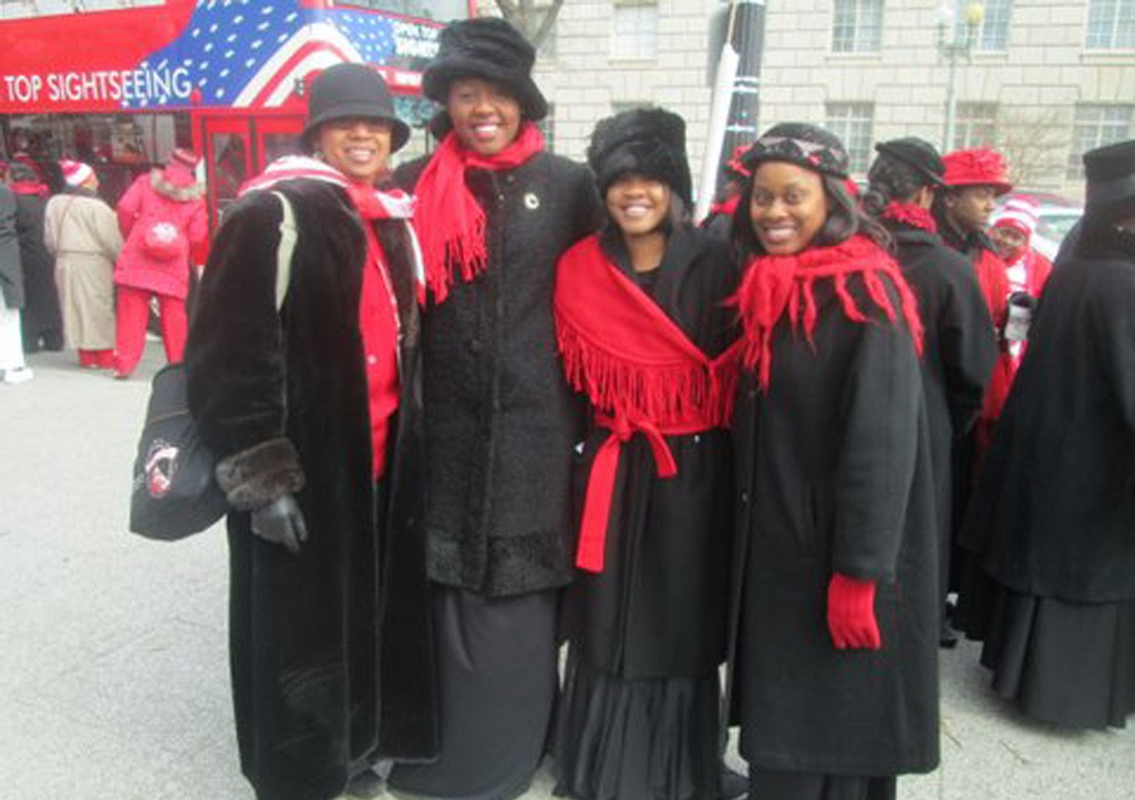 Undergrad Deltas Portray 4 of the 22 Founders of the Sorority who Participated in the March in 1913