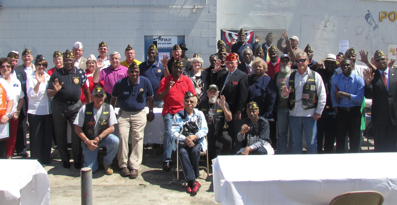 Members of American Legion Post 500, other local Legion members, and dignitaries