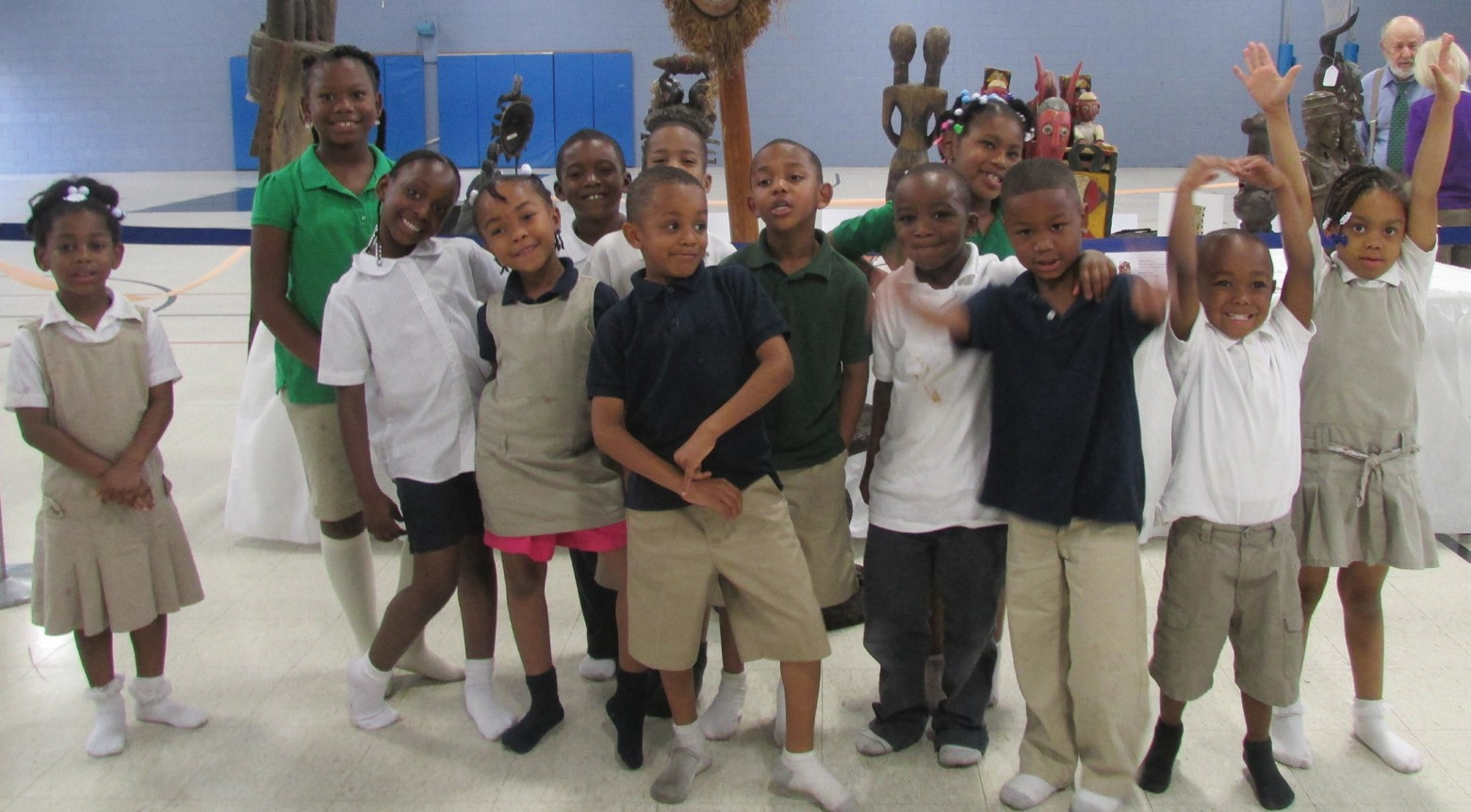 Students of May Street YMCA view the Kole Exhibit during Open House.