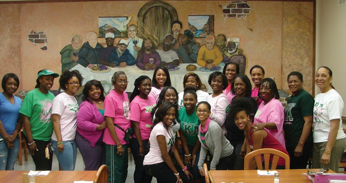 AKAs at Old Savannah City Mission