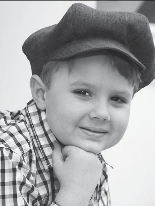 5 year old cancer survivor Sam.