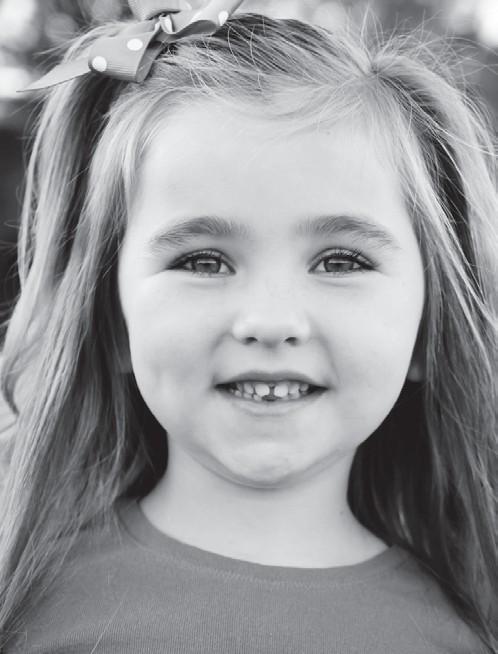 6 year old cancer survivor Cora.