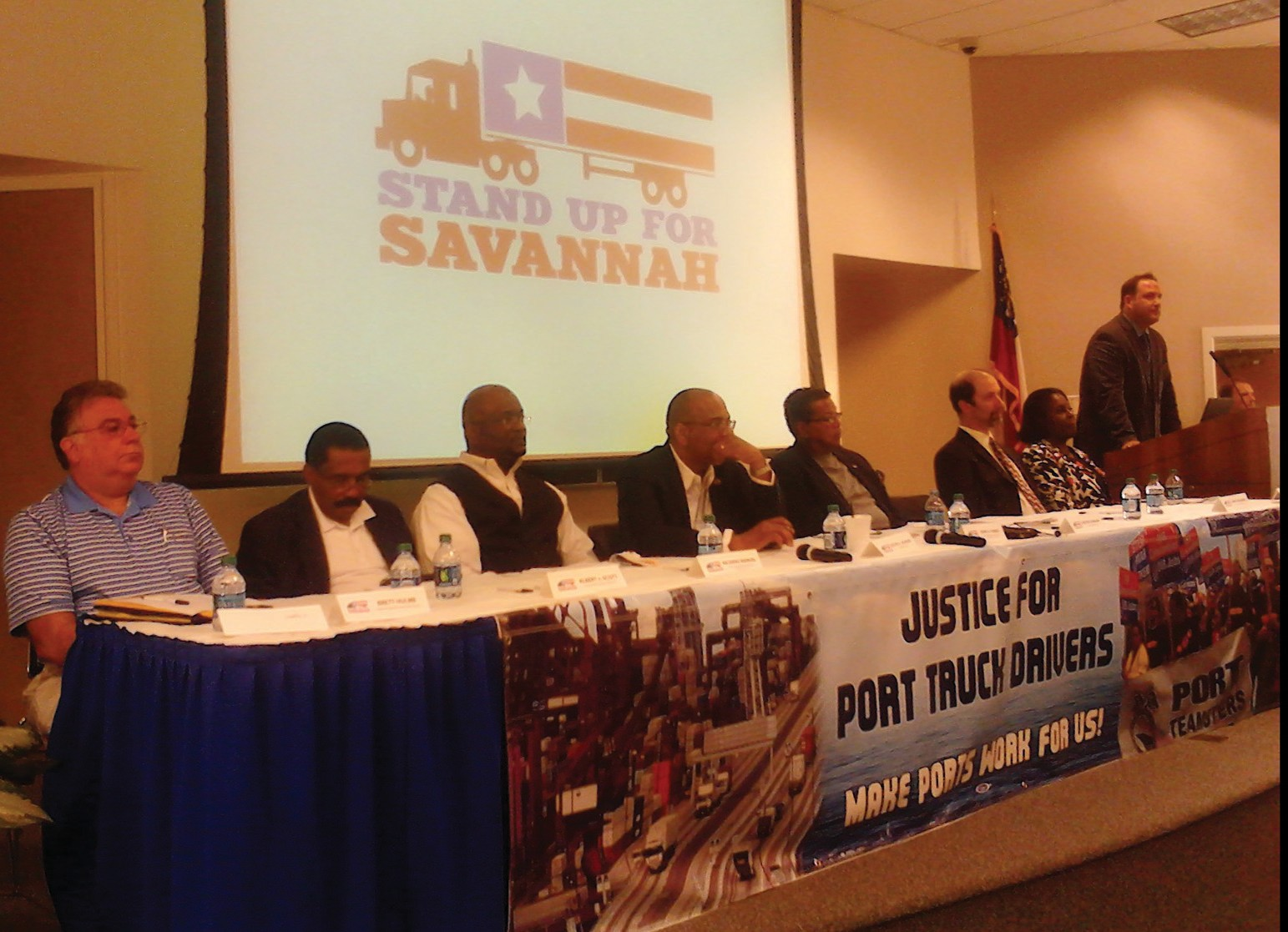 Panel of local government officials and city leaders at the Truck Driver Forum