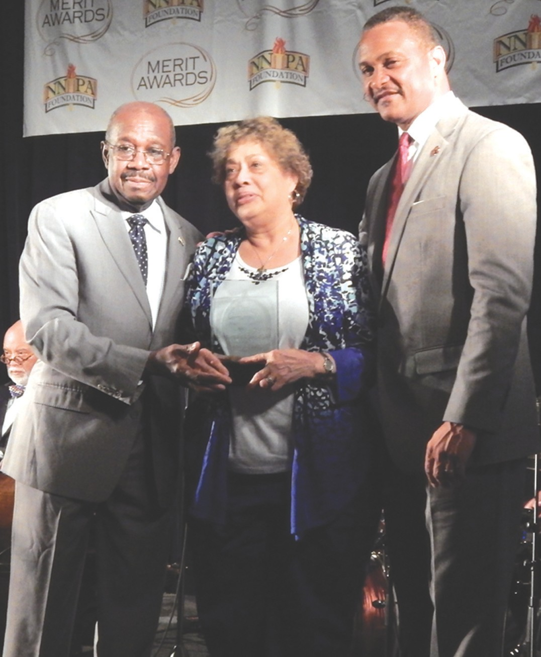 Mary Alice Thatch (center) Publisher, Wilmington Journal named Publisher of the Year