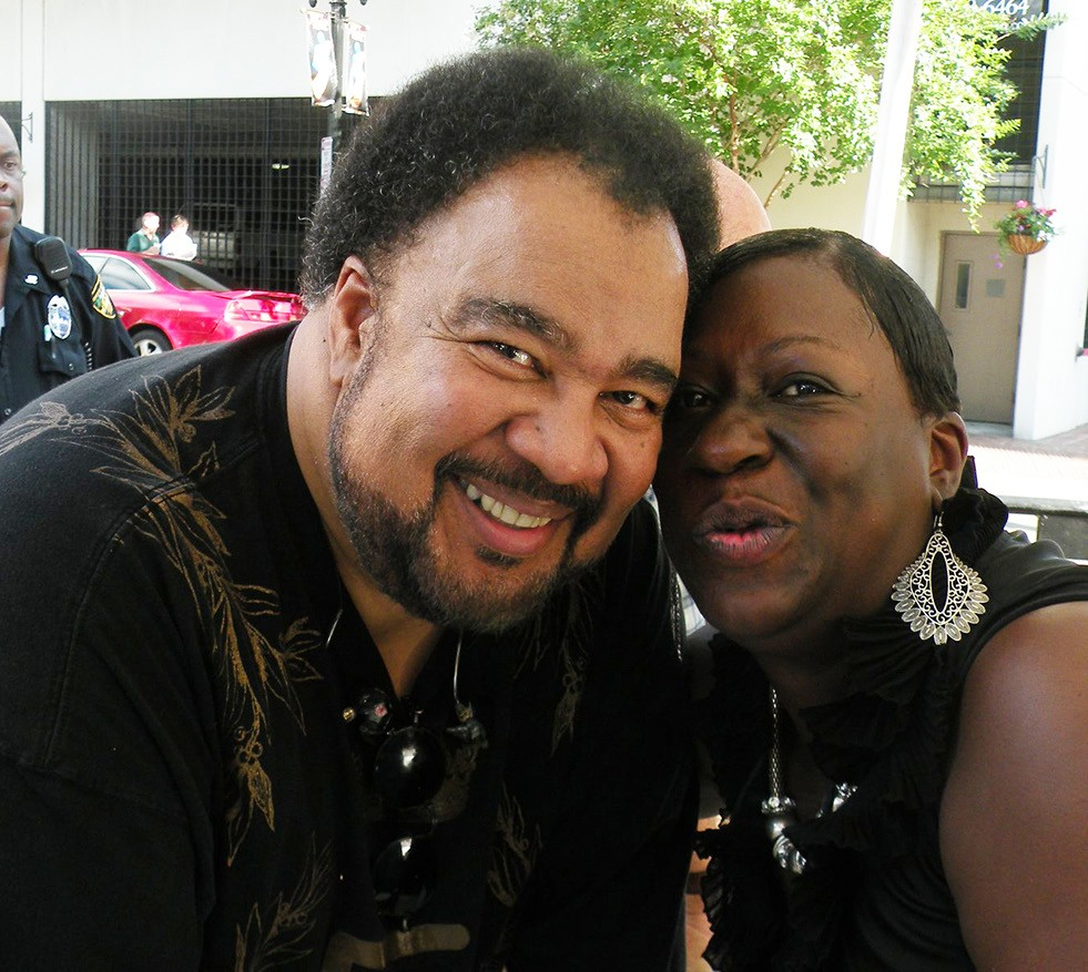 George Duke and The Savannah Tribune Vice President Tanya Milton at the Jacksonville Jazz Festival in 2011.