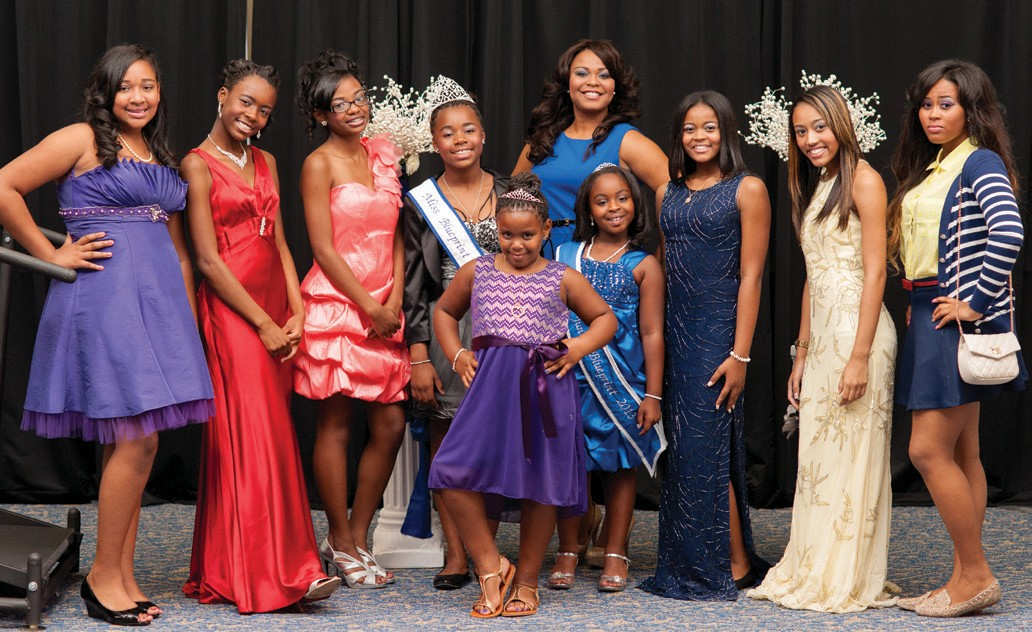 L-R: Chariti Williams, Helena Brazelton, Chrystah Williams, Jaqueline Brazelton, Teriana Hervas, Brook Bates, Brittany Bates, Breanna Bates. Front Center: Brooklyn Howells; Back Center: Mrs. Rowena Baylor- Howells. NOT PICTURED are Kayla Daniels, Asanta Newton and Madison Lambert