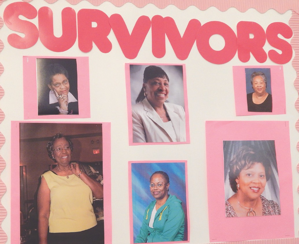 """Tremont Temple Missionary Baptist Church celebrated Breast Cancer Awareness Month on Sunday, October 20. Sis. Julia Johnson displayed a table with """"Things You Should Know"""" about Breast Cancer. Members of the Sisters Network (a breast cancer support group) were present. The congregation celebrated the lives of the survivor members by wearing pink. A reception was held after the church service."""