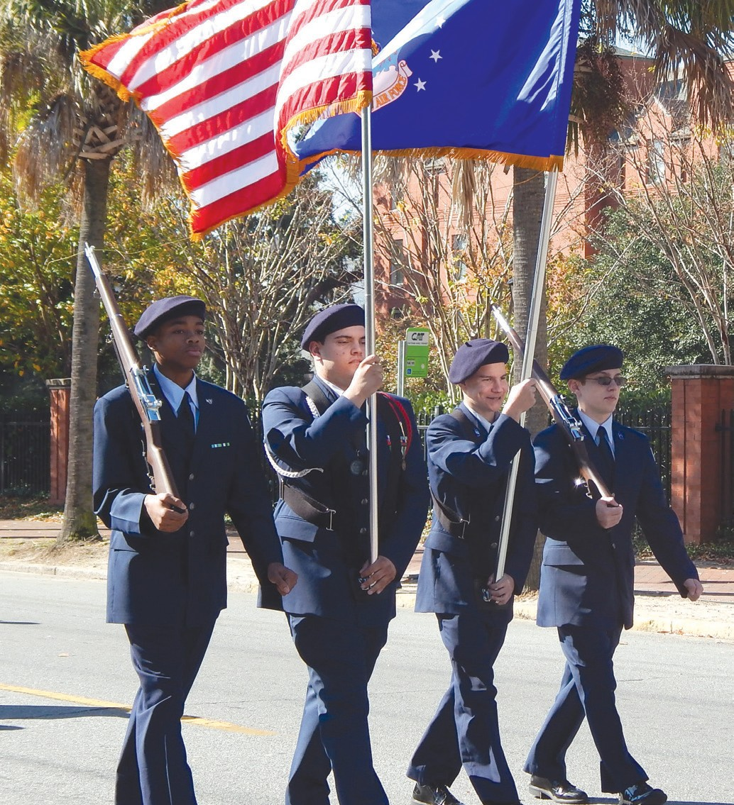 ROTC Members Of New Hampstead High School