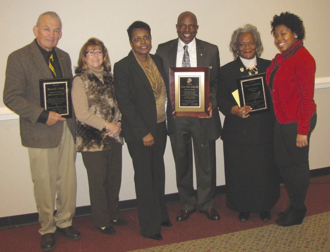 The EOA held their 42nd MLK Community Observance on January 16th. Above are the honorees (l to r) Russell Abolt and wife, Lt. General Walter Gaskin and wife and Inez Jenkins and grand daughter.