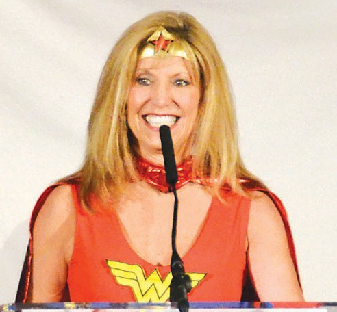 United Way's 2014 Campaign Chair, Jenny Gentry as Wonder Woman