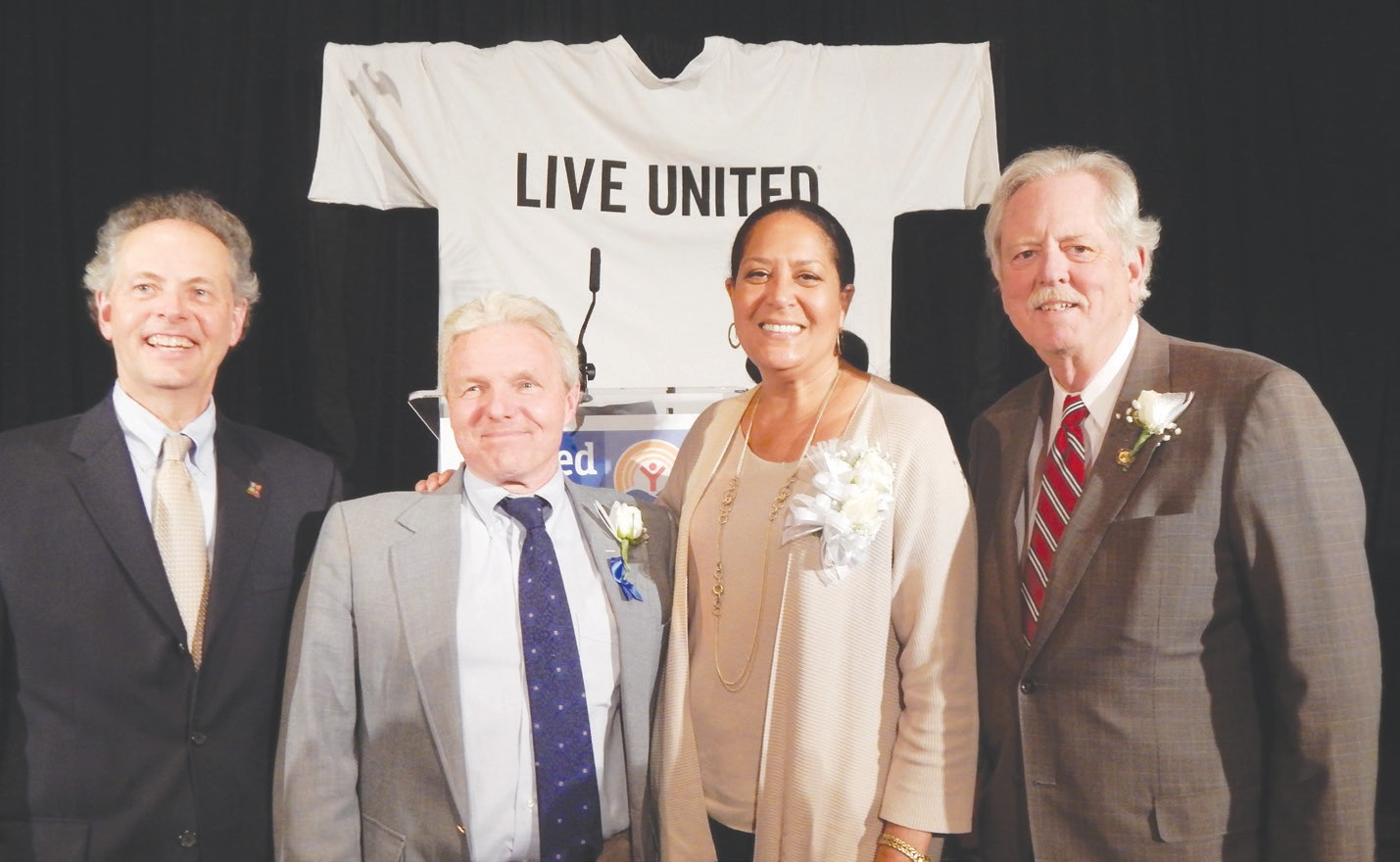United Way Greg Schroder, Craig Harney, Linda Evans and Bob Jepson