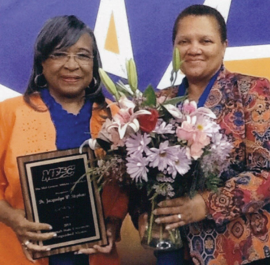 Dr. Jacquelyn W. Stephens (left), SSU President Dr. Cheryl D. Dozier (right)